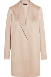 The Row Rallan Silk And Wool Blend Coat Neutral