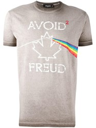 Dsquared2 'Avoid Freud' T Shirt Brown