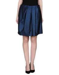 Monocrom Skirts Knee Length Skirts Women Dark Blue
