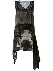 Antonio Marras Devore Paisley Dress Green