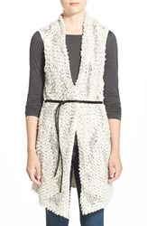 Petite Women's Nic Zoe Belted Long Vest Multi