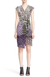 Women's Just Cavalli Leopard Print Wrap Dress
