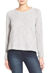 Splendid Metallic Marled Crewneck Sweater Gray