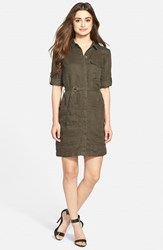 Women's Kut From The Kloth 'Solange' Roll Sleeve Shirtdress