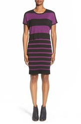 Women's Matty M Stripe Mock Two Piece Sweater Dress