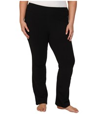Jockey Active Plus Size Slim Bootleg Black Women's Casual Pants
