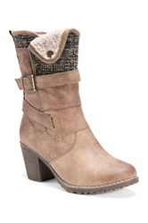 Muk Luks Belle Faux Shearling Lined Boot Brown