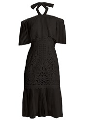 Temperley London Berry Lace Off The Shoulder Dress Black