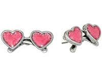 Marc Jacobs Heart Sunglasses Studs Earrings Antique Silver Earring