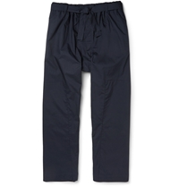 Marni Cotton Parachute Trousers Blue