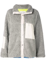 Sandy Liang Patch Trim And Pockets Jacket Grey