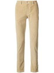 Al Duca D'aosta 1902 Slim Fit Corduroy Trousers Nude And Neutrals