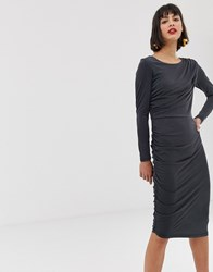 Selected Bodycon Midi Pencil Dress Black