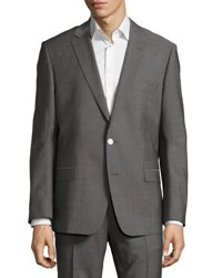 Versace Pinstriped Two Piece Suit Gray Pattern