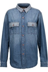 Current Elliott The Whitney Prep Denim Shirt Mid Denim