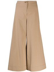 M Missoni Cropped Wide Leg Trousers Brown