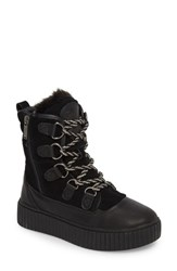 Pajar Women's Cade Waterproof Insulated Snow Boot Black Leather