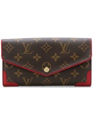 Louis Vuitton Vintage Sarah Monogram Wallet Brown