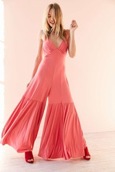 Kimchi And Blue Clarice Tiered Wide Leg Jumpsuit Pink