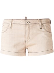 Armani Jeans Five Pocket Shorts Women Cotton Polyester 26 Nude Neutrals