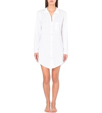 Hanro Deluxe Cotton Nightshirt White