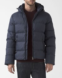 Pyrenex Matt Blue Spoutnic Down Jacket With Removable Hood