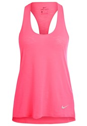 Nike Performance Sports Shirt Racer Pink Reflective Silver Neon Pink