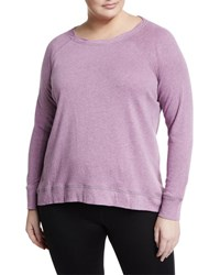 Marc Ny Performance Plus Long Sleeve Back Zip Sweatshirt Lilac