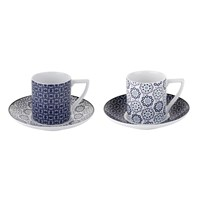 Ted Baker Espresso Cup And Saucer Set Of 2 Ancona I