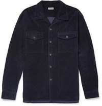 Camoshita Cotton Corduroy Overshirt Navy