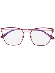 Tom Ford Eyewear Square Frame Glasses Pink