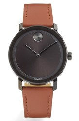Movado Bold Evolution Leather Strap Watch 40Mm