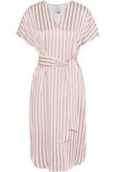 Iris And Ink Striped Twill Dress Red