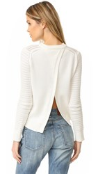 Rag And Bone Elsie Crew Sweater White