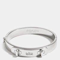 Coach Metal Swagger Hinged Bangle Silver