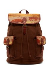 Pendleton Genuine Leather Trim Backpack Brown