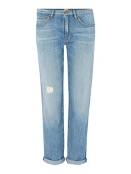 Hugo Boss Cropped Boyfriend J70 Jean Denim Light Wash