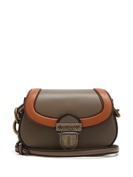Bottega Veneta Umbria Leather Shoulder Bag Grey Multi