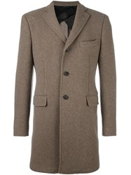 Tonello Single Breasted Coat Brown