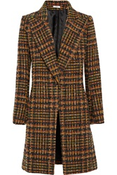 Bouchra Jarrar Checked Wool Blend Tweed Coat