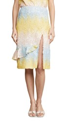 Endless Rose Colorblock Sequin Skirt Multi