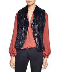 Haute Hippie Mixed Fur Vest Black