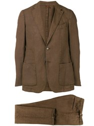 Dell'oglio Two Piece Formal Suit Brown
