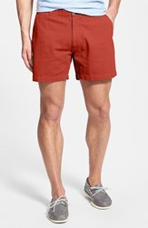 Men's Vintage 1946 'Snappers' Vintage Washed Elastic Waistband Shorts Red