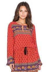 Minkpink Boho Queen Top Orange