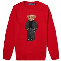 Polo Ralph Lauren Smart Bear Intarsia Knit Red