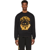 Mcq By Alexander Mcqueen Black And Yellow Psycho Billy Slouch Sweatshirt