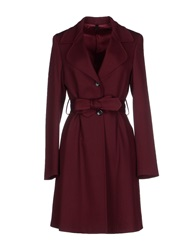 Tonello Full Length Jackets Maroon