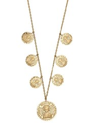 Anissa Kermiche Louise D'or 18Kt Gold Coin Necklace Gold