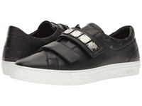 Mcm Low Top Sneaker W Brass Plate Detail Black